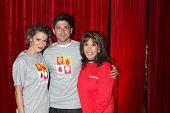 LOS ANGELES - OCT 6:  Robert Adamson, Linsey Godfrey, Kate Linder at the Light The Night The Walk to