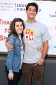 LOS ANGELES - OCT 6:  Seana Gorlick, Tyler Posey at the Light The Night The Walk to benefit the Leuk