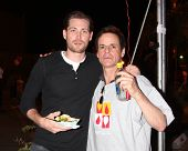 LOS ANGELES - OCT 6:  Zack Conroy, Christian LeBlanc at the Light The Night The Walk to benefit the