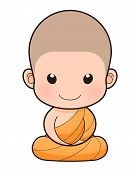Buddhist Monk Cartoon