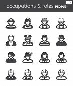 People Flat Icons. Occupations and roles