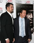 LOS ANGELES - NOV 12:  Marcus Luttrell, Mark Wahlberg at the