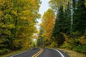 Autumn Road,  Keweenaw Peninsula