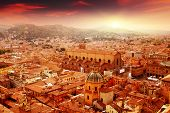 foto of cupola  - Aerial view of Bologna at sunset - JPG