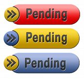 pending review and approval application in progress icon or button