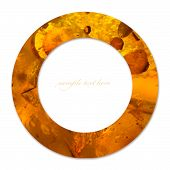 Concept Of Circle With Amber Texture And Empty Place For Text
