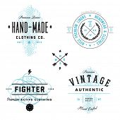 stock photo of apparel  - Vector vintage badge and label templates - JPG