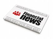 News news concept: newspaper with Financial News and Business People