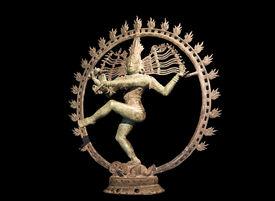 stock photo of mahabharata  - Hindu statue of Shiva dancing over maya demon - JPG