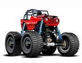 stock photo of buggy  - Vector Cartoon Monster Truck - JPG