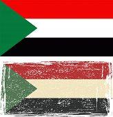Sudan grunge flag. Vector illustration.