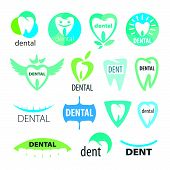 a Collection Of Vector Icons Dentistry