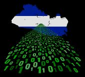 El Salvador map flag with binary foreground illustration