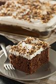 picture of toffee  - Homemade Toffee and Chocolate Cake with Vanilla Frosting - JPG