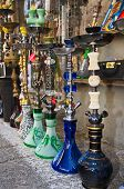 image of hookah  - Hookahs at the Jaffa Tel Aviv Flea Market in Israel - JPG