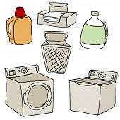An image of  laundry set.