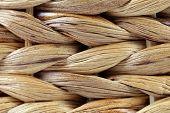 Wicker Basket texture. Close up. Horisontal.