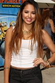 LOS ANGELES - APR 11:  Jasmine Villegas at the Despicable Me Minion Mayhem  and Super Silly Fun Land