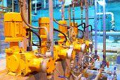 Factory  equipment. Electric pumps