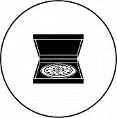 pizza in box symbol