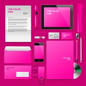 Pink Corporate ID mockup