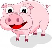 Cartoon Happy Pig
