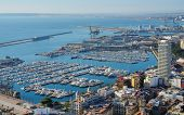 ALICANTE, SPAIN - JANUARY 8, 2013: Yachts in port of Alicante. It's one of the most important ports