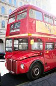 LONDON, UK - APRIL 16, 2014: Some of the original old Routemaster double-decker buses are still oper