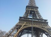 Closeup of the Eiffel Tower