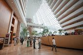 SINGAPORE - NOVEMBER 06, 2012: The hotel hall Marina Bay Sands, this hotel  one of the most luxuriou