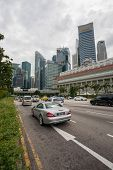 SINGAPORE - NOVEMBER 05, 2012: View of the Central Business District with modern office buildings. S