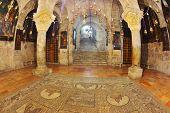 Jerusalem - September 3: Hall of the Holy Sepulchre in September 3, 2012 in Jerusalem. The hall in t
