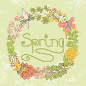 Stylish Vintage Floral Cards ,invitations With Butterflies.spring