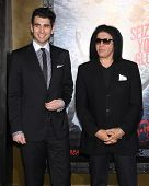 LOS ANGELES - MAR 04:  Gene Simmons & Nick Simmons arrives to the
