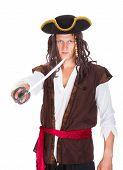 Pirate Holding Sword