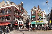 Amsterdam, Netherlands - March 19, 2014: Diamond Factory Building With Windmill On The Rokin Centrum