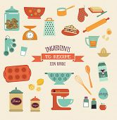 pic of pastry chef  - recipe and kitchen vector design and icon - JPG