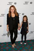 NEW YORK-APR 21: Actress Sasha Alexander and daughter Lucia attend the Shorts Program: Soul Survivor