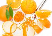 Citrus Zester And Orange Fruits