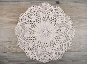 stock photo of doilies  - Colorful and crisp image of crochet doily - JPG