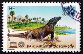 Postage Stamp France 2001 Komodo Dragon, Lizard