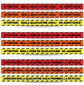 Three Colors Of Tape To Warn Off People In Ebola Outbreak Zones, In English, French And Spanish Resp