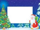 Christmas Frame / border mit Santa Claus
