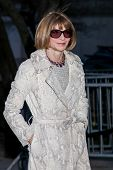 NEW YORK, NY - APRIL 23: Vogue Magazine editor-in-chief Anna Wintour attends the Vanity Fair Party d