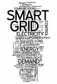 picture of smart grid  - Word Cloud with Smart Grid related tags - JPG