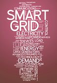 stock photo of smart grid  - Image Graphic Word Cloud with Smart Grid related tags - JPG