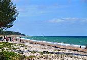 Inhassoro, Mozambique - December 9, 2008: Indian Ocean Coast. The Beach.