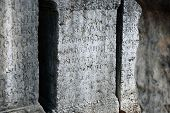 Ancient Roman Tomb With Latin Text