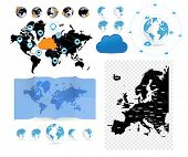 Big set of World map, vector
