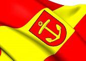Flag Of Ludwigshafen am Rhein